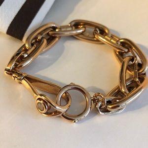 Henri Bendel Bracelet Rose Gold Double Links